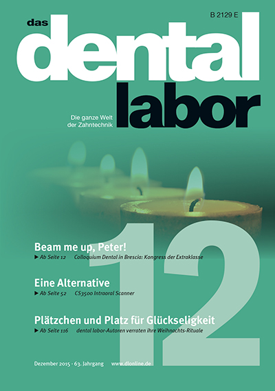 das dental labor 12/2015 Titel